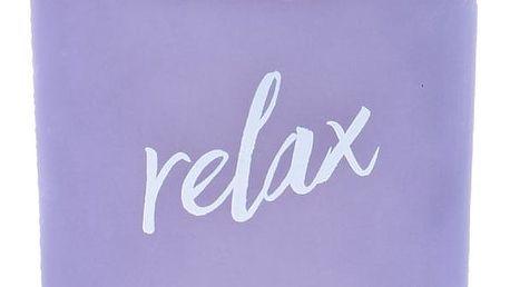 dw HOME Vonná svíčka Yoga - Relax 425gr, fialová barva, sklo, dřevo, vosk