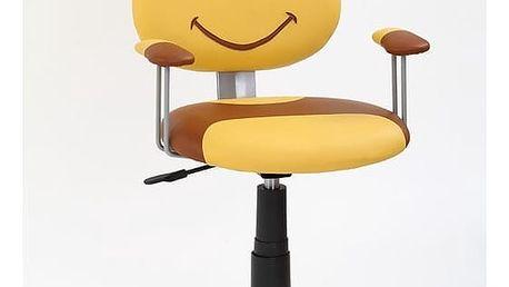 Halmar Dětská židle KUBUŠ, žlutá