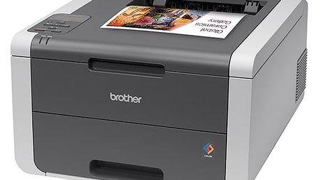 Tiskárna laserová Brother HL-3140CW (HL3140CWYJ1) černá/šedá A4, 18str./min, 18str./min, 2400 x 600, 64 MB, WF, USB + DOPRAVA ZDARMA