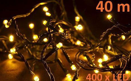 Nexos 28391 Vánoční LED osvětlení 40 m - teple bílé, 400 diod