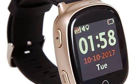 Chytré hodinky Helmer LK 705 dětské s GPS lokátorem (Helmer LK 705) bronzový + Doprava zdarma