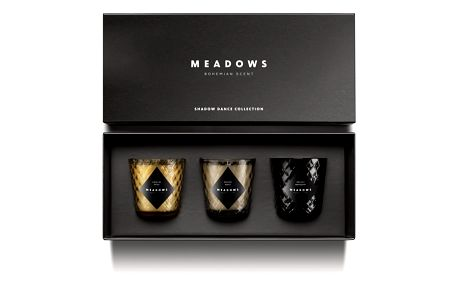 Sada 3 svíček Meadows Shadow Dance Collection - doprava zdarma!