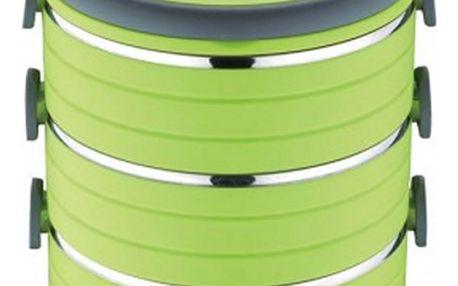 Renberg třípatrový jídlonosič zelený