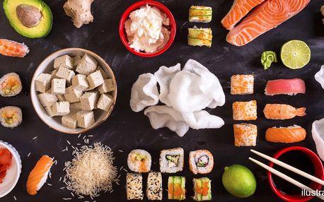 Lahodné a čerstvé sushi do 30 min. u vás doma