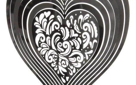 Závěsná dekorace Cosmo Spinner srdce ornament