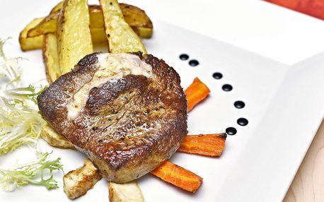 3chodové menu s královským biftekem