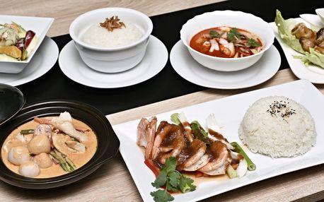 4chodové degustační asijské menu pro 2
