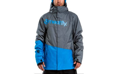 Bunda Meatfly Trick grey heather-blue heather XL