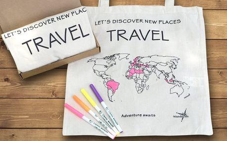 Cestovatelská taška, kterou můžete vybarvit