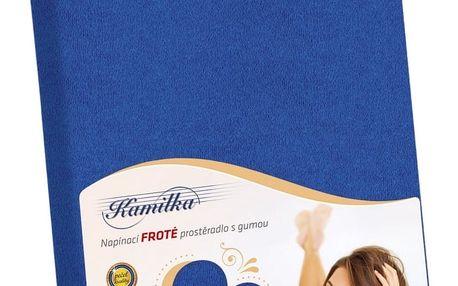 Bellatex Froté prostěradlo Kamilka tmavě modrá, 140 x 200 cm