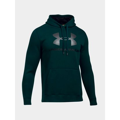 Mikina Under Armour Rival Fitted Graphic Hoodie Zelená