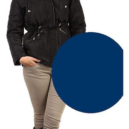 Lesklá dámská bunda - i pro plnoštíhlé tmavě modrá