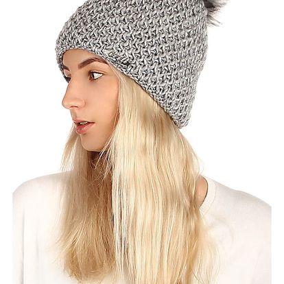 Dámská pletená čepice šedá
