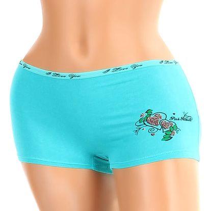 Dámské boxerky s potiskem zelená