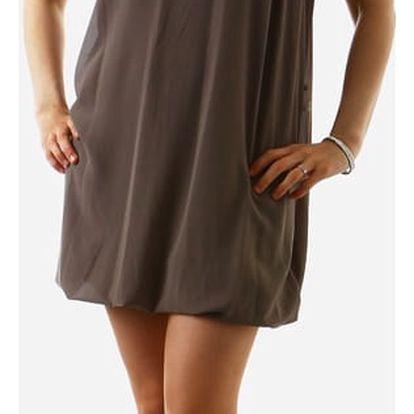 Krátké dámské volné šaty šedá