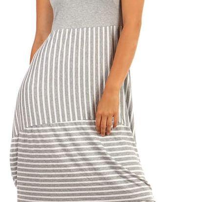 Letní šaty s balonovou sukní šedá