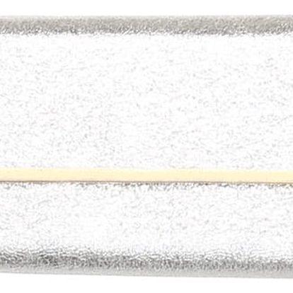 Třpytivá kabelka na ples stříbrná