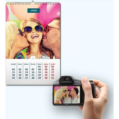 Fotokalendář ve formátu A4, A3 - na výšku nebo šířku