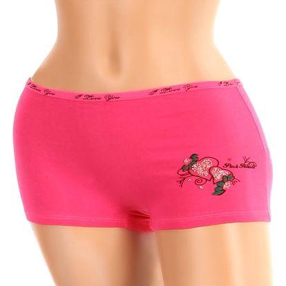 Dámské boxerky s potiskem růžová