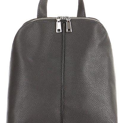 Dámský koženkový batoh šedá