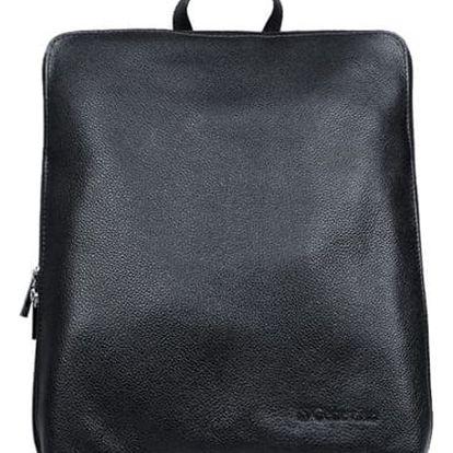Dámský batoh z pravé kůže černá