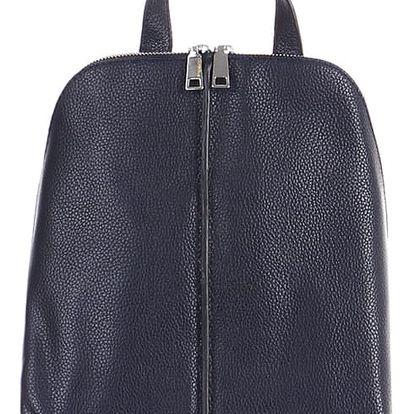 Dámský koženkový batoh modrá