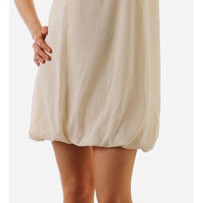 Krátké dámské volné šaty krémová
