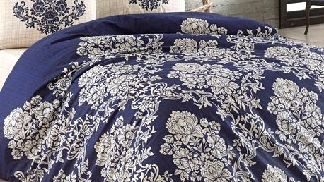 BedTex Bavlněné povlečení Estella modrá, 140 x 200 cm, 70 x 90 cm, 50 x 70 cm, 140 x 200 cm, 70 x 90 cm