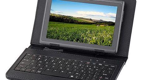 """Pouzdro na tablet s klávesnicí GoGEN univerzal 7"""", polohovací (GOGTA7KEYBOARD) černé"""