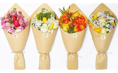 Každé pondělí čerstvá kytice, kam si řeknete