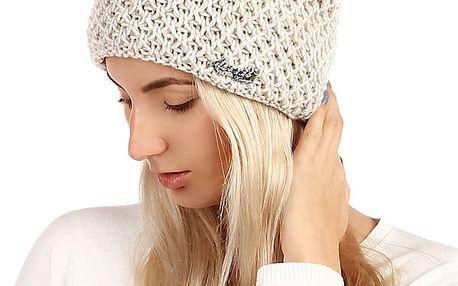 Dámská pletená čepice bílá