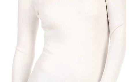 Dámské úpletové šaty s ozdobnými patenty bílá