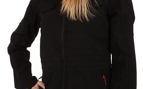 Dámská softshellová bunda na zip černá