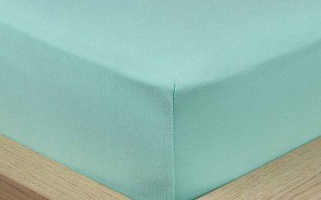 4Home Jersey prostěradlo s elastanem zelená, 90 x 200 cm