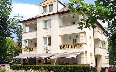Relaxační pobyt u Máchova jezera pro dva v 3*Hotelu Bellevue s polopenzí, míchaný nápoj, vířivka.
