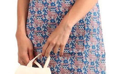 Barevné letní plážové šaty modrá