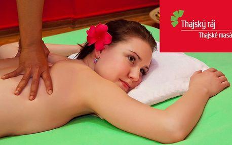 Ráj na zemi: Hodinová thajská masáž dle výběru