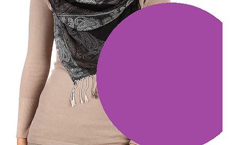 Dlouhá šála - pašmína fialová