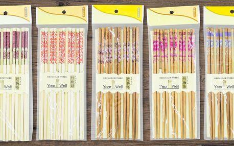 Pravé čínské hůlky z bambusového dřeva