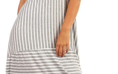 Letní plážové šaty s balonovou sukní šedá