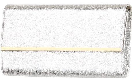 Třpytivé dámské psaníčko stříbrná