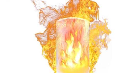 LED Žárovka s plamenovým efektem