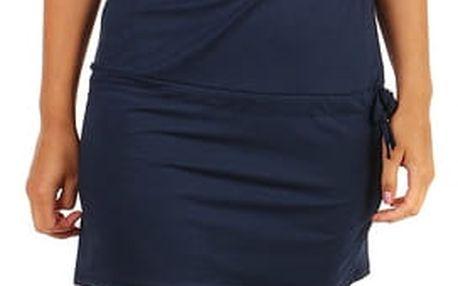 Jednobarevné šaty pro volný čas tmavě modrá
