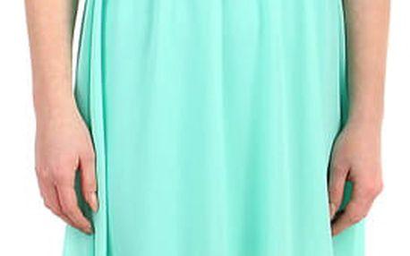 Šifonové šaty s krajkovým vrškem zelená