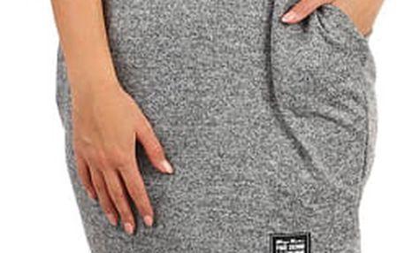 Melírované úpletové šaty s 3/4 rukávem šedá