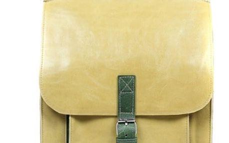 Velký kožený batoh s přezkou hrášková