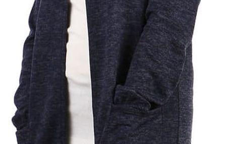 Žíhaný kardigan s kapucí - i pro plnoštíhlé modrá