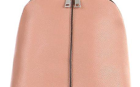 Dámský koženkový batoh růžová