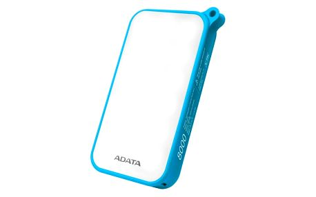 Power Bank ADATA D8000L 8000mAh, outdoor LED svítilna (AD8000L-5V-CBL) modrá