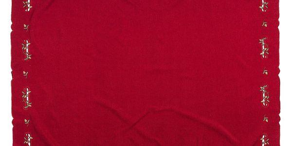 Forbyt Vánoční ubrus jmelí červená